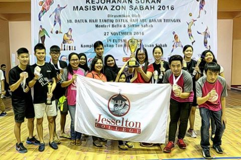 Jesselton College are MASISWA Games Champion in 2016